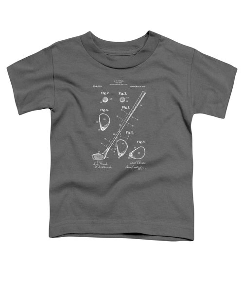 1910 Golf Club Patent Artwork - Gray Toddler T-Shirt by Nikki Marie Smith