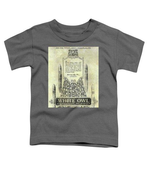1920 White Owl Cigar Advertisement Toddler T-Shirt