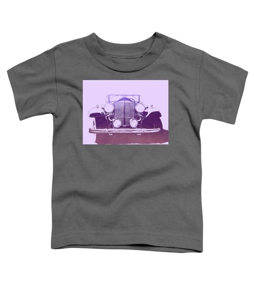1932 Packard Pop Art Violet Gradient Toddler T-Shirt