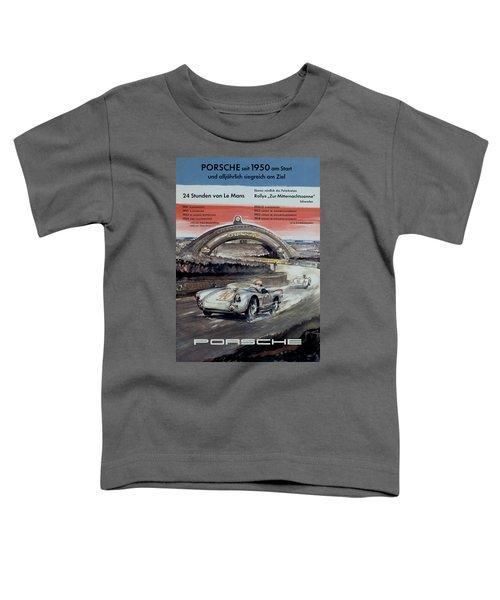1950 Porsche Le Mans Poster Toddler T-Shirt