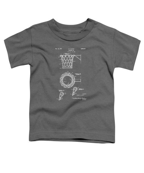 1951 Basketball Net Patent Artwork - Gray Toddler T-Shirt by Nikki Marie Smith