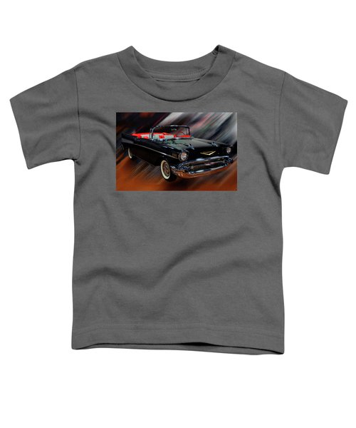 1957 Chevy Bel Air Convertible Digital Oil Toddler T-Shirt