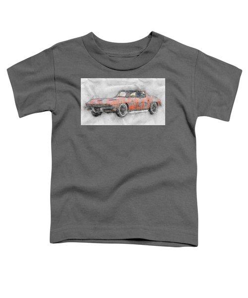 1963 Chevrolet Corvette Sting Ray 1 - 1963 - Automotive Art - Car Posters Toddler T-Shirt