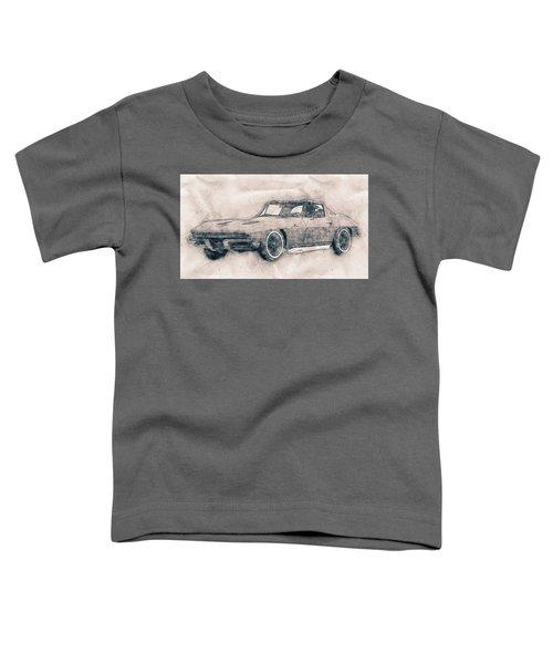 1963 Chevrolet Corvette Sting Ray - 1963 - Automotive Art - Car Posters Toddler T-Shirt
