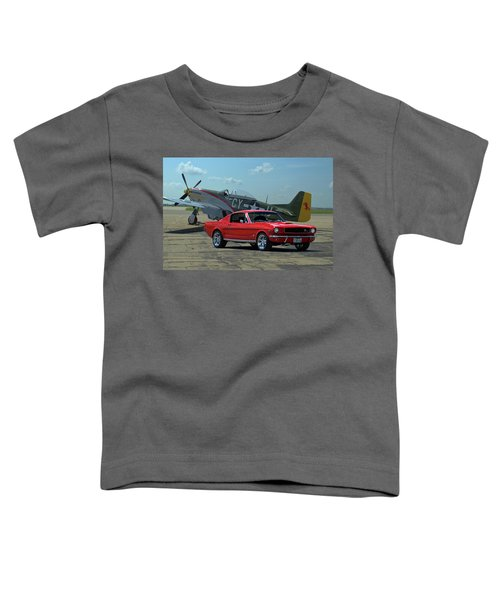 1965 Mustang Fastback And P51 Mustang Toddler T-Shirt