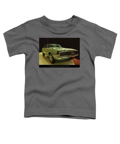 1968 Chevy Camaro Rs-ss Toddler T-Shirt