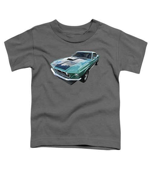 1969 Green 428 Mach 1 Cobra Jet Ford Mustang Toddler T-Shirt