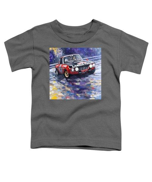 1972 Rallye Monte Carlo Lancia Fulvia 1600hf Munari Mannucci Winner Toddler T-Shirt
