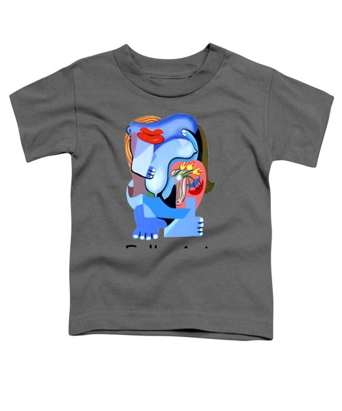 Blue Nude With Tulips Toddler T-Shirt
