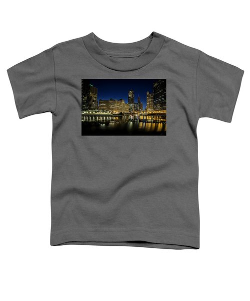 Chicago River And Skyline At Dawn Toddler T-Shirt