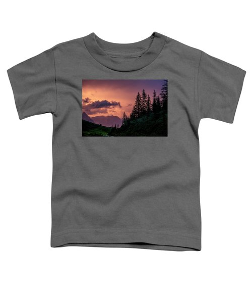 Evening In The Alps Toddler T-Shirt