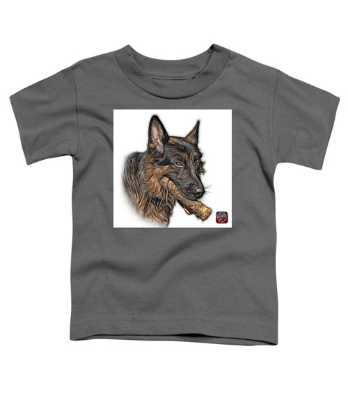 German Shepherd And Toy - 0745 F Toddler T-Shirt