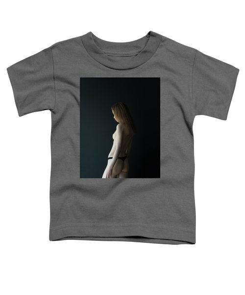 Girl In Front Of Black Wall Toddler T-Shirt