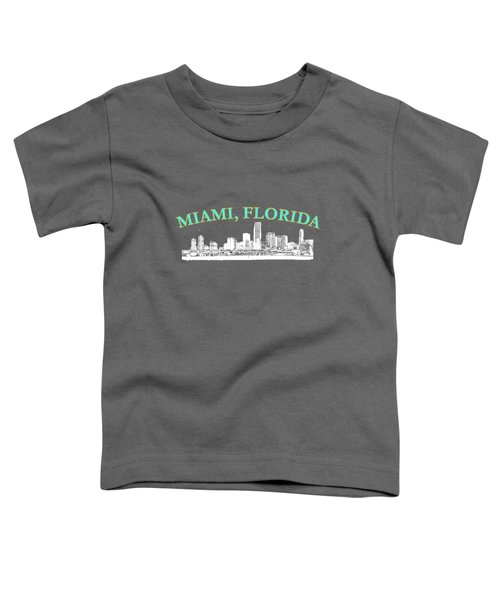 Miami Florida Toddler T-Shirt by Brian's T-shirts