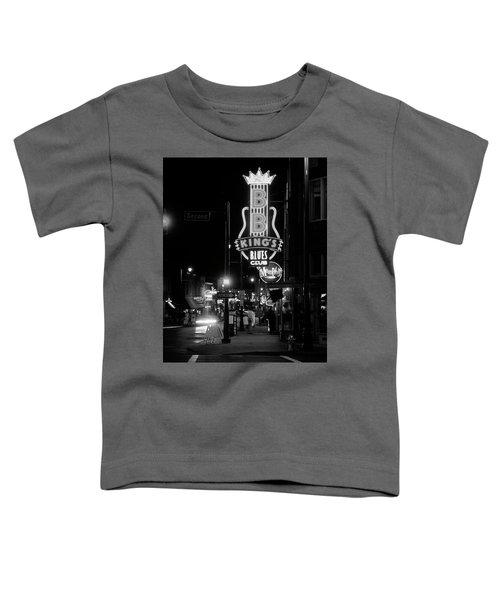 Neon Sign Lit Up At Night, B. B. Kings Toddler T-Shirt