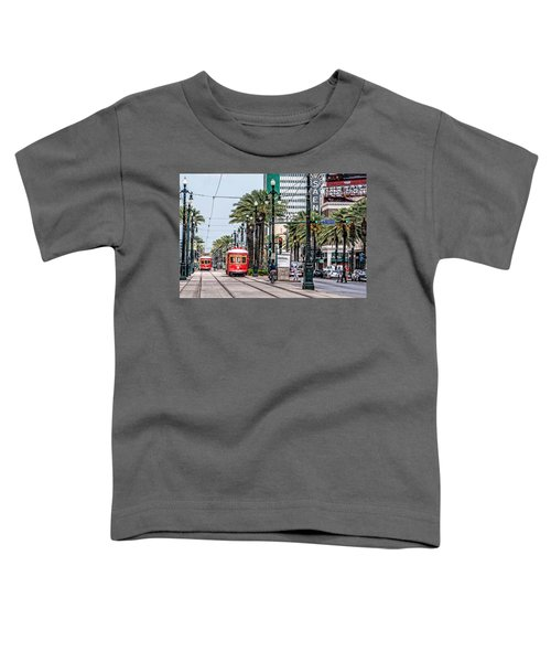 New Orleans Canal Street Streetcars Toddler T-Shirt