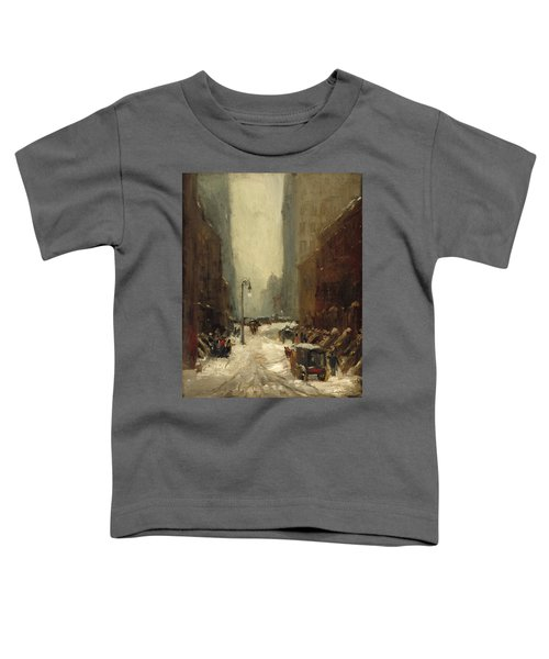 Snow In New York Toddler T-Shirt