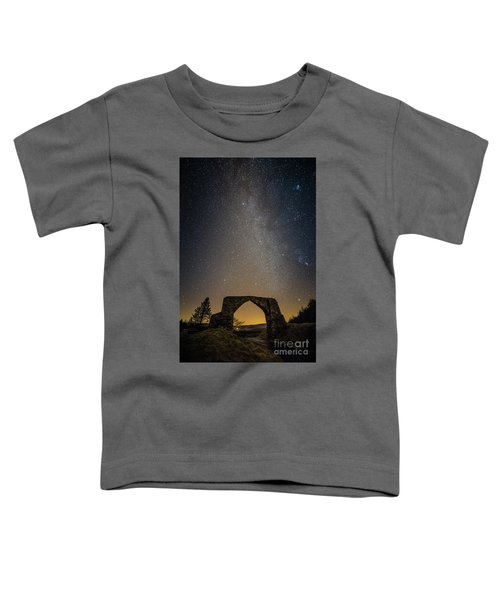 The Milky Way Over The Hafod Arch, Ceredigion Wales Uk Toddler T-Shirt