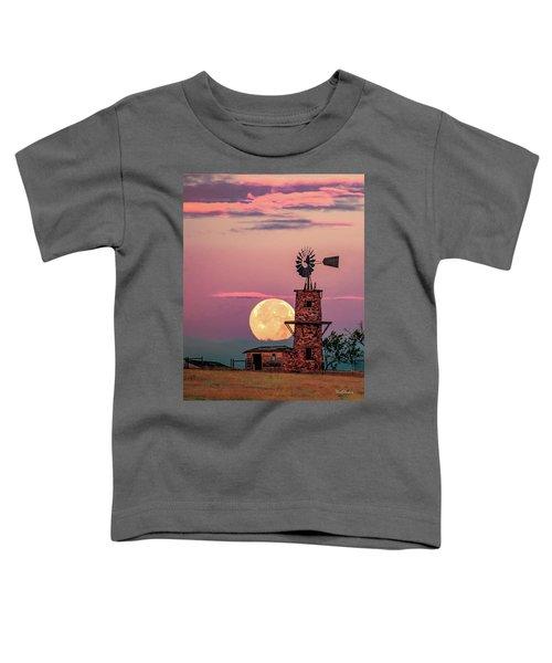 Windmill At Moonset Toddler T-Shirt