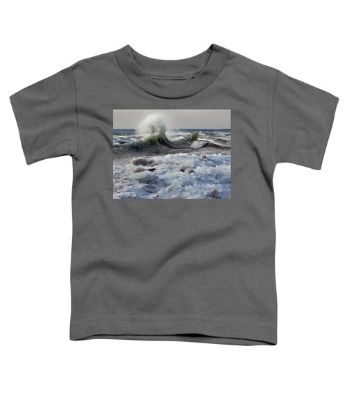 Winter Waves At Whitefish Dunes Toddler T-Shirt