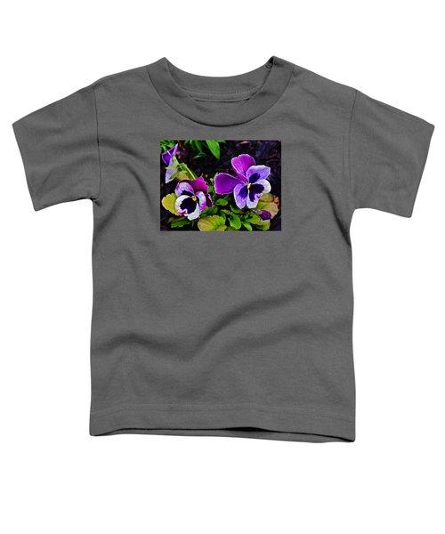 2015 Spring At Olbrich Gardens Violet Pansies Toddler T-Shirt