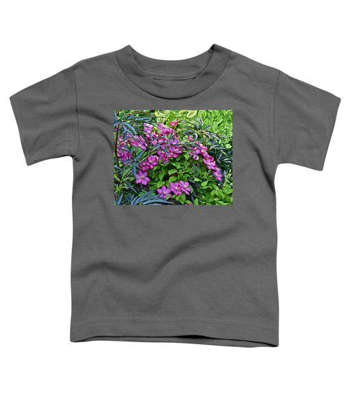 2015 Summer At The Garden Beautiful Clematis Toddler T-Shirt