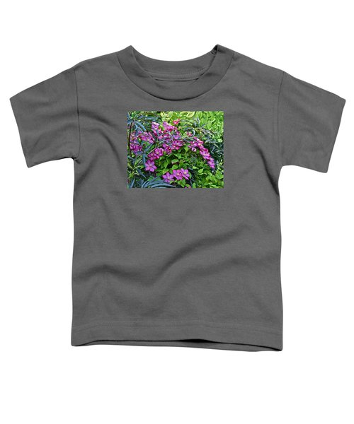 2015 Summer At The Garden Beautiful Clematis Toddler T-Shirt