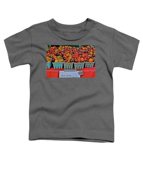 2017 Monona Farmers' Market August Heirloom Cherry Tomatoes Toddler T-Shirt