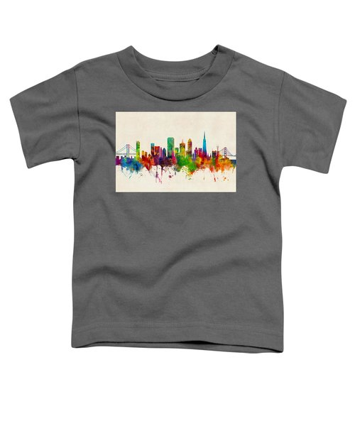 San Francisco City Skyline Toddler T-Shirt