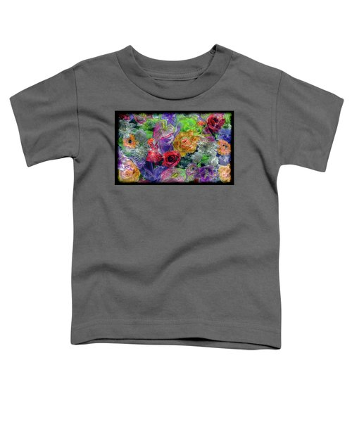 21a Abstract Floral Painting Digital Expressionism Toddler T-Shirt