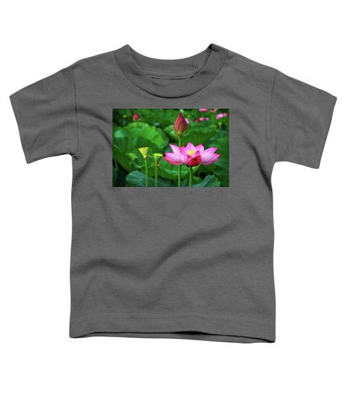 Blossoming Lotus Flower Closeup Toddler T-Shirt