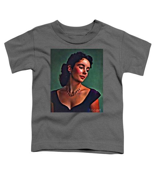 Elizabeth Taylor, Vintage Hollywood Legend By Mary Bassett Toddler T-Shirt by Mary Bassett