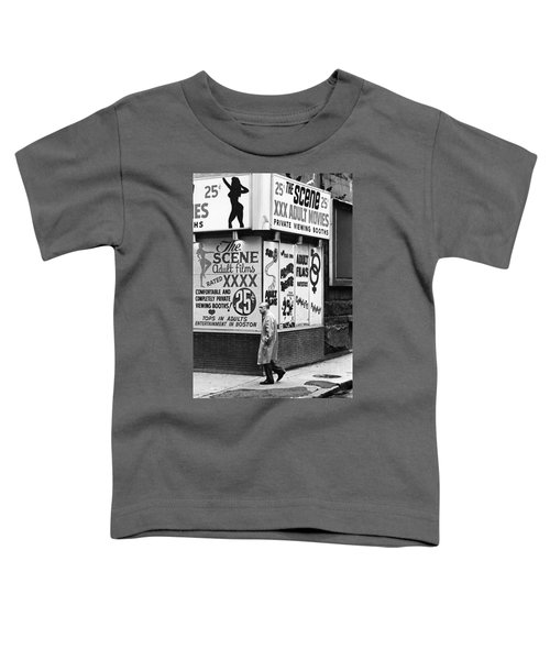 Film Homage Hard Core 1979 Porn Theater The Combat Zone Boston Massachusetts 1977 Toddler T-Shirt