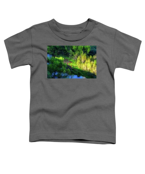 3 Horses Grazing On The Bank Of The Verde River Toddler T-Shirt