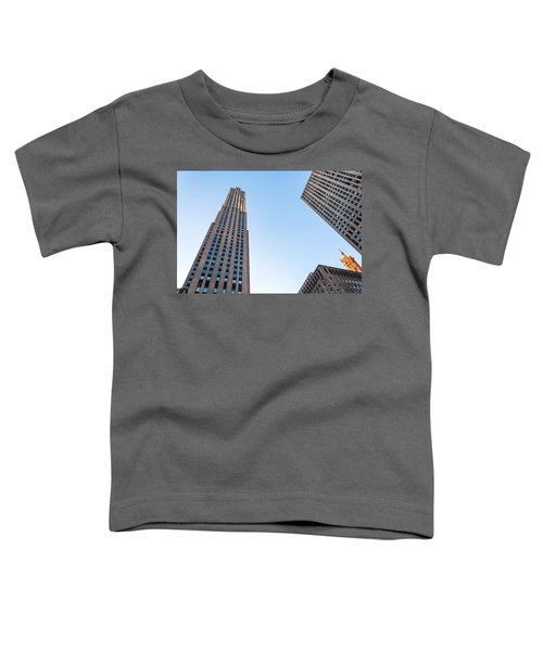 Toddler T-Shirt featuring the photograph 30 Rock by Alison Frank