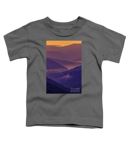 Allegheny Mountain Sunrise Two Toddler T-Shirt