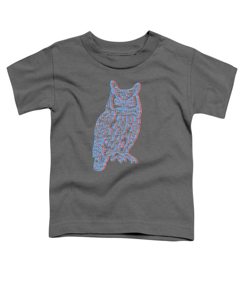 3d Owl Toddler T-Shirt by Cold Wash