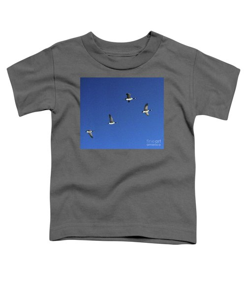 4 Geese In Flight Toddler T-Shirt