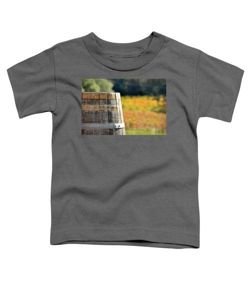 Wine Barrel In Autumn Toddler T-Shirt