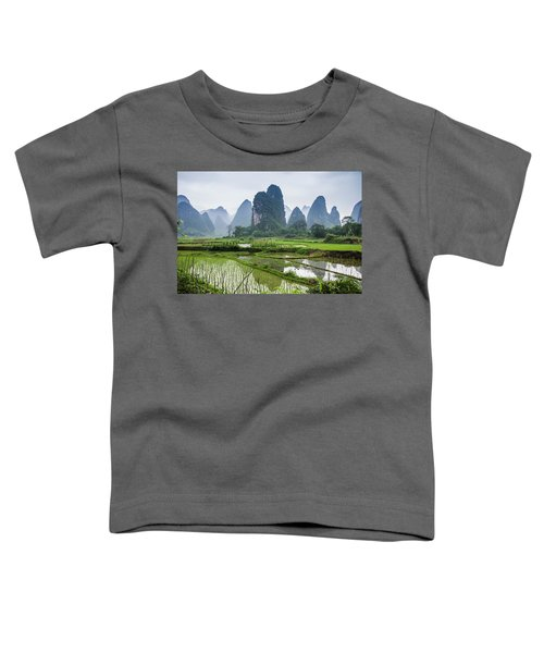 The Beautiful Karst Rural Scenery In Spring Toddler T-Shirt