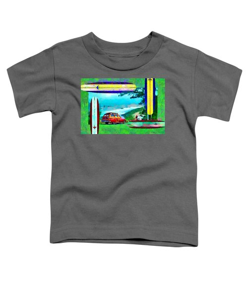 60's Surfing Toddler T-Shirt