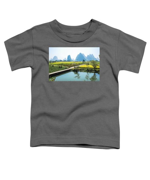 Rice Fields Scenery In Autumn Toddler T-Shirt
