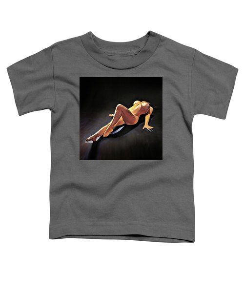 6550s-amg Watercolor Nude Woman Leg Up  Toddler T-Shirt