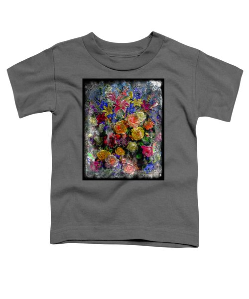 7a Abstract Floral Painting Digital Expressionism Toddler T-Shirt