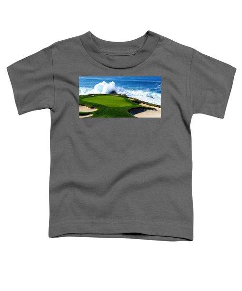 7th Hole - Pebble Beach  Toddler T-Shirt