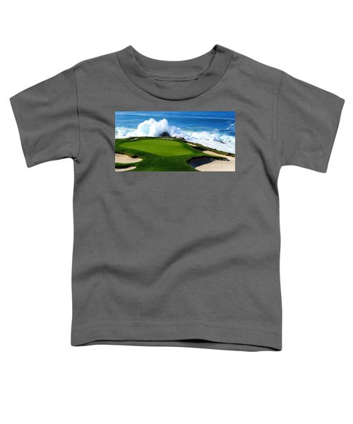 7th Hole - Pebble Beach  Toddler T-Shirt
