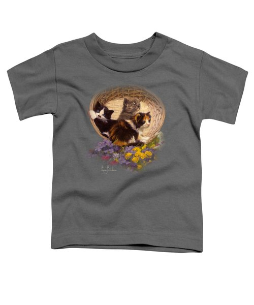 A Basket Of Cuteness Toddler T-Shirt by Lucie Bilodeau