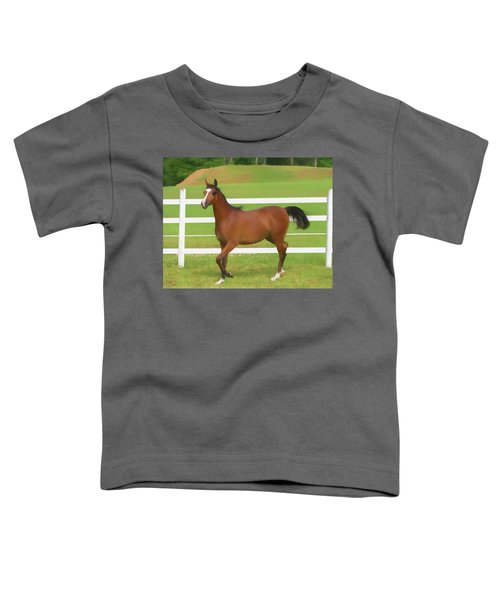 A Beautiful Arabian Filly In The Pasture. Toddler T-Shirt