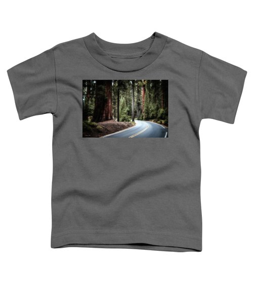 Toddler T-Shirt featuring the photograph A Bright Future Around The Bend by Andrea Platt