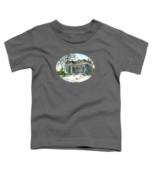 A Cozy Winter Cottage Toddler T-Shirt